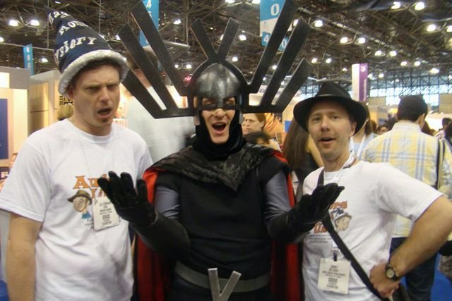 Lee Edward Fodi and James consort with a super villain.