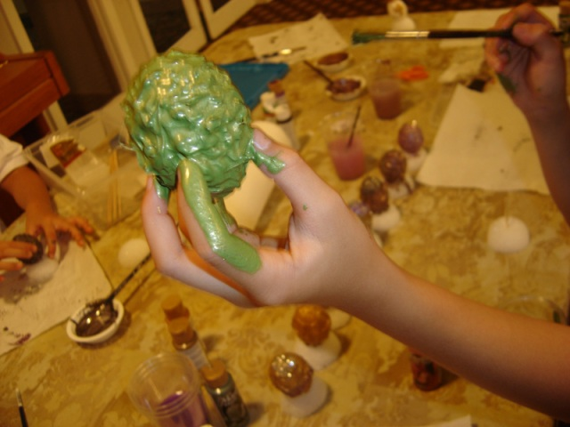 Dragon Egg Making.