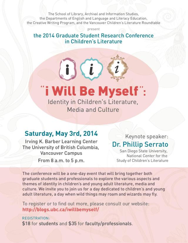 2014 UBC Graduate Student Research Conference in Children's Literature