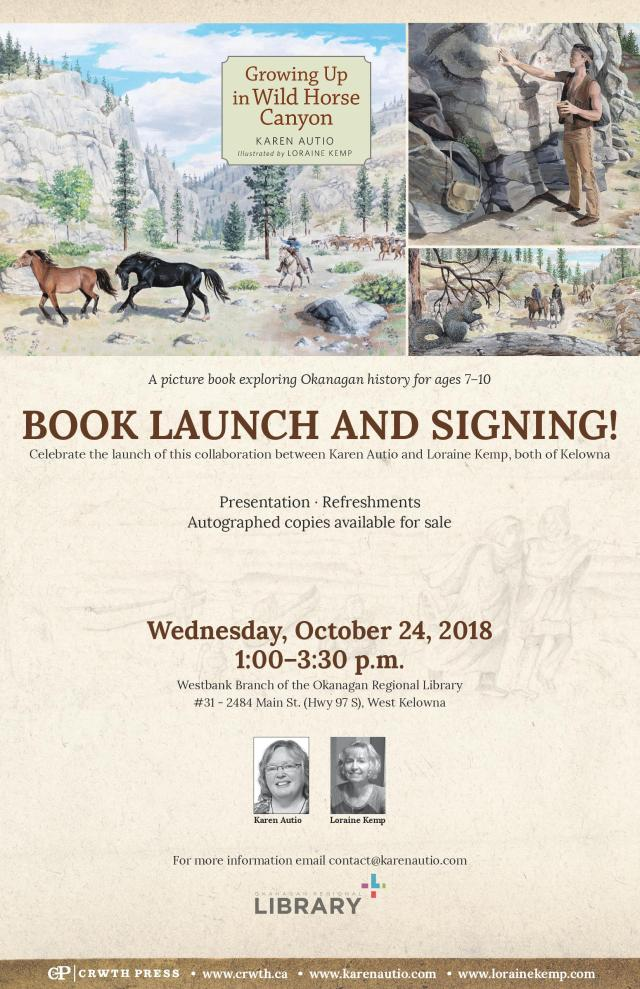 West Kelowna Book Launch